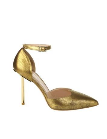 zapato gold tacon