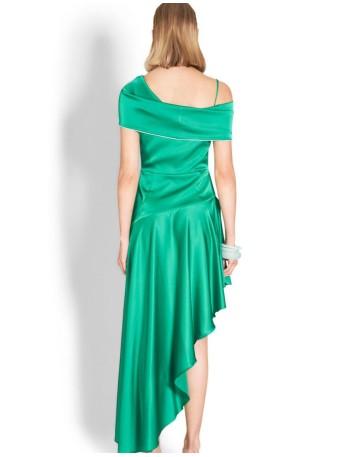 Vestido Largo Color Verde Esmeralda Para Invitadas