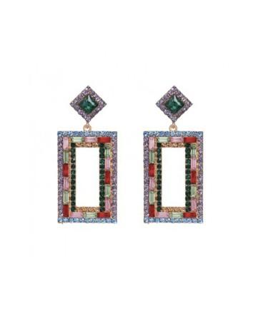 pendientes rectangulares de colores de le collier