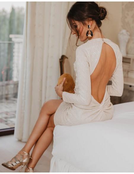 Long-sleeved cocktail dress - Invitada Perfecta Sarvin - 3