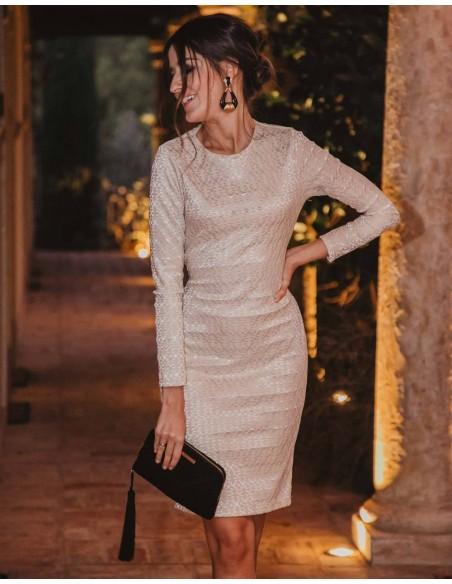 Long-sleeved cocktail dress - Invitada Perfecta Sarvin - 5