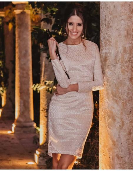 Long-sleeved cocktail dress - Invitada Perfecta Sarvin - 7