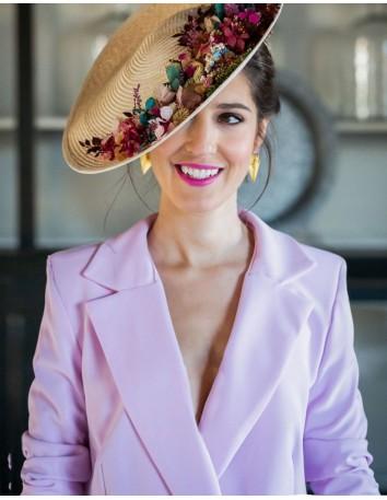 Chaqueta americana rosa con botones -INITADA PERFECTA