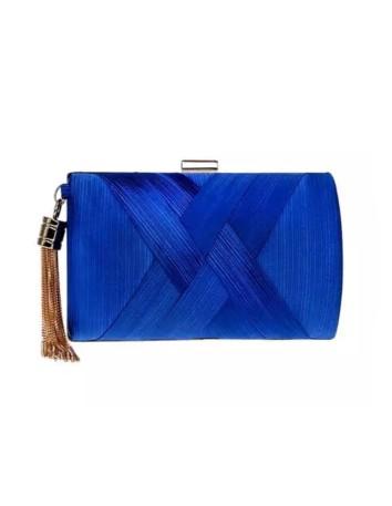 Bolso de fiesta baguette Azul Klein para invitadas de Lauren Lynn London