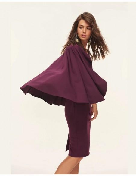 Garnet cocktail dress with cape Lauren Lynn London - 2