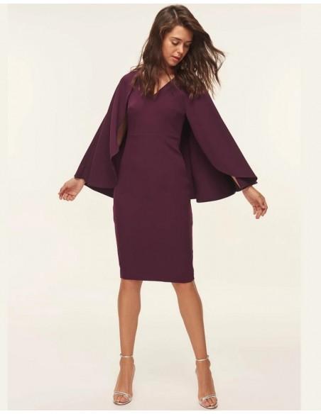 Garnet cocktail dress with cape Lauren Lynn London - 3