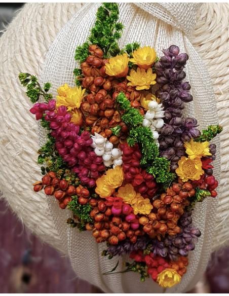 Beige natural flower headband - White Cala by Lilian - 2