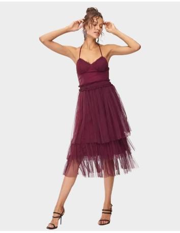 Vestido de cóctel bailarina...