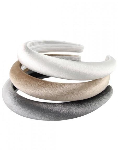 Metallic grey velvet guest headband Lauren Lynn London Accessories - 2