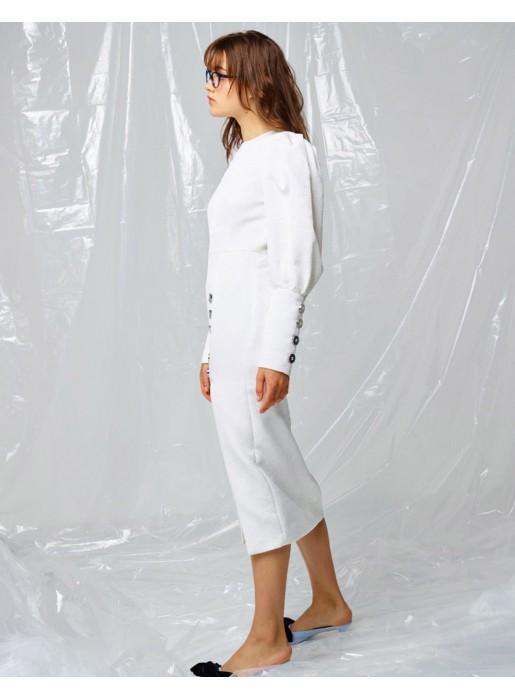 descuento más bajo Venta barata comprar el más nuevo Vestido de fiesta midi con manga larga y abertura lateral